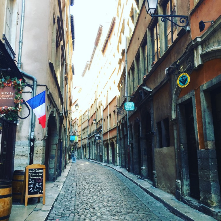 old lyon cobble streets